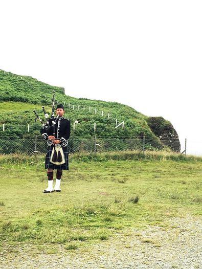 Dudelsackspieler in Schottland