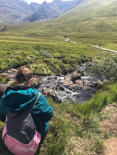 Wanderung zu den Fairy Pools in Schottland