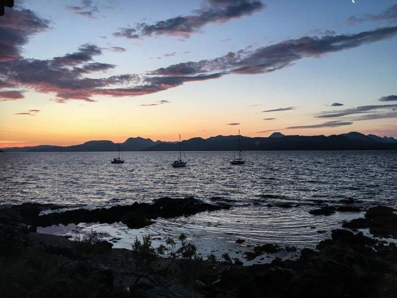 Sunrise on Isle of Skye in Ardvasar