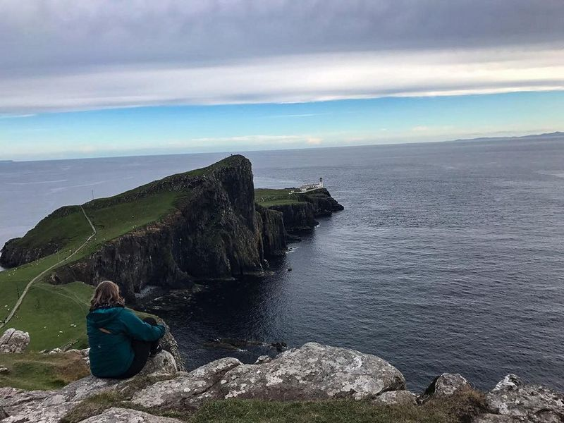 Blick auf Lighthouse Neist Point