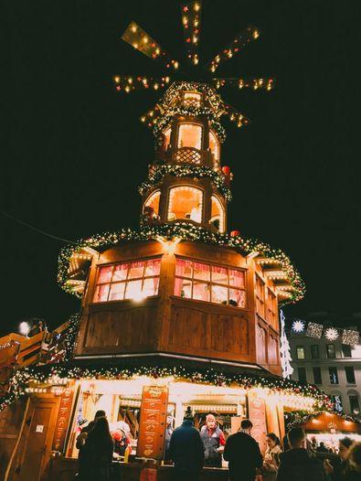 Weihnachtsdekoration in Glasgow