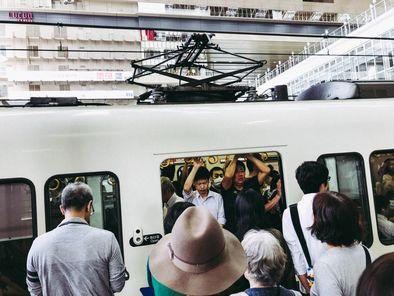 überfüllte U-Bahn