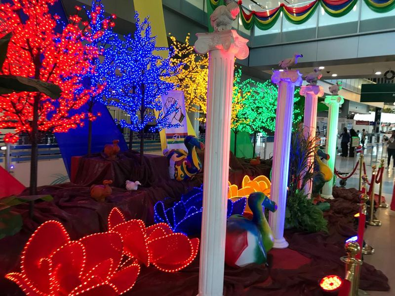 colourful decoration at the airport
