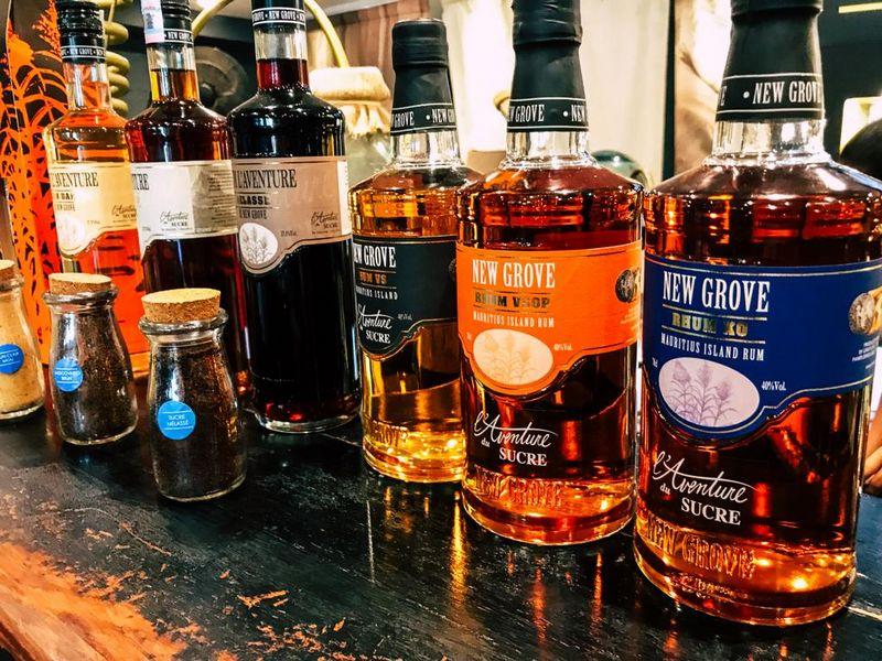 Rum mit verschiedenen Aromen