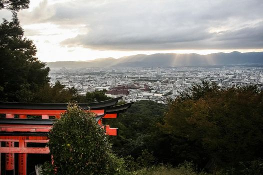 Blick vom Fushimi Inari-Taisha  Schrein