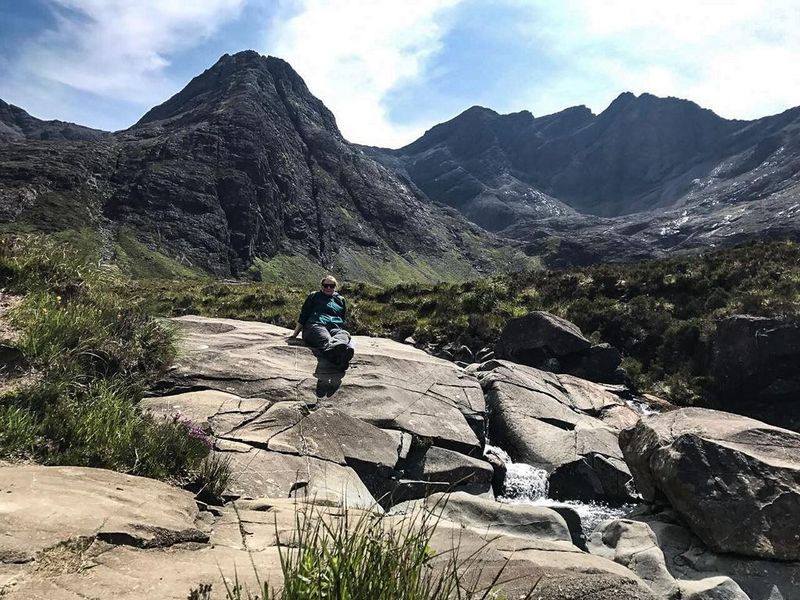 Bergpanorama an den Fairy Pools