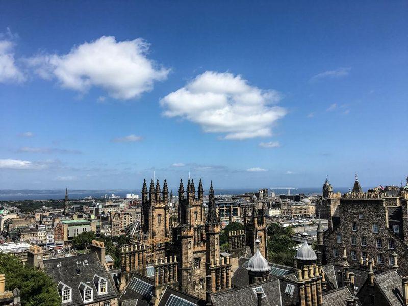 Aussicht über Edinburgh